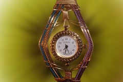 NLTD-Bronze-Aqua-Blue-Lavender-Purple-Wire-Sculpted-Watch