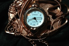 Bronze Wire Sculpted Jules Verne Inspired Skeleton Watch